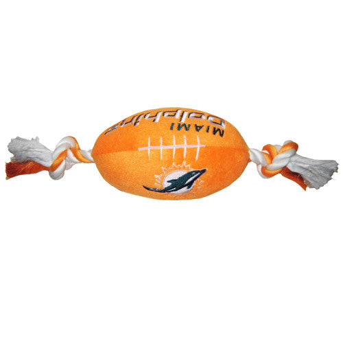 Miami Dolphins Football Rope Pet Toy - CanesWear at Miami FanWear Pet Gear Pets First CanesWear at Miami FanWear