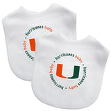 Miami Hurricanes Baby Fanatic Baby Bib 2-Pack
