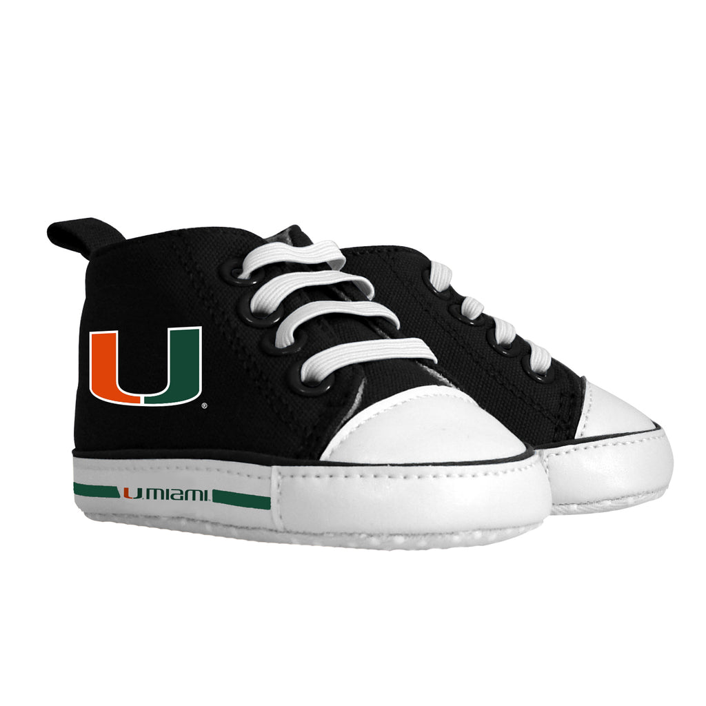 Miami Hurricanes Baby Fanatic High Top Pre-walker Baby Shoes