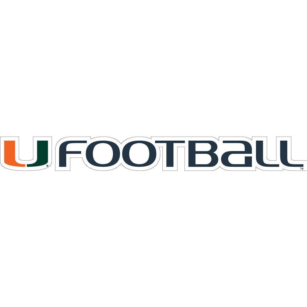 "Miami Hurricanes 20"" Football Decal - CanesWear at Miami FanWear Decals & Stickers SDS Design Associates CanesWear at Miami FanWear"