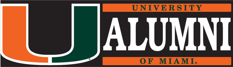 Miami Hurricanes Alumni Block Decal - CanesWear at Miami FanWear Decals & Stickers SDS Design Associates CanesWear at Miami FanWear