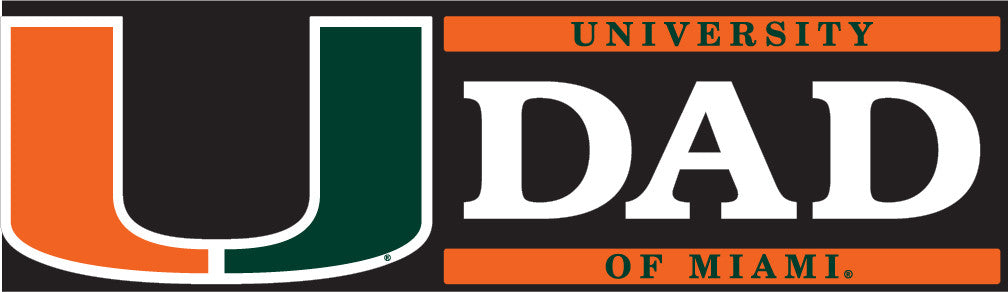Miami Hurricanes Dad Block Decal - CanesWear at Miami FanWear Decals & Stickers SDS Design Associates CanesWear at Miami FanWear