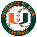 "Miami Hurricanes Baseball Round 3"" Magnet - CanesWear at Miami FanWear Decals & Stickers SDS Design Associates CanesWear at Miami FanWear"