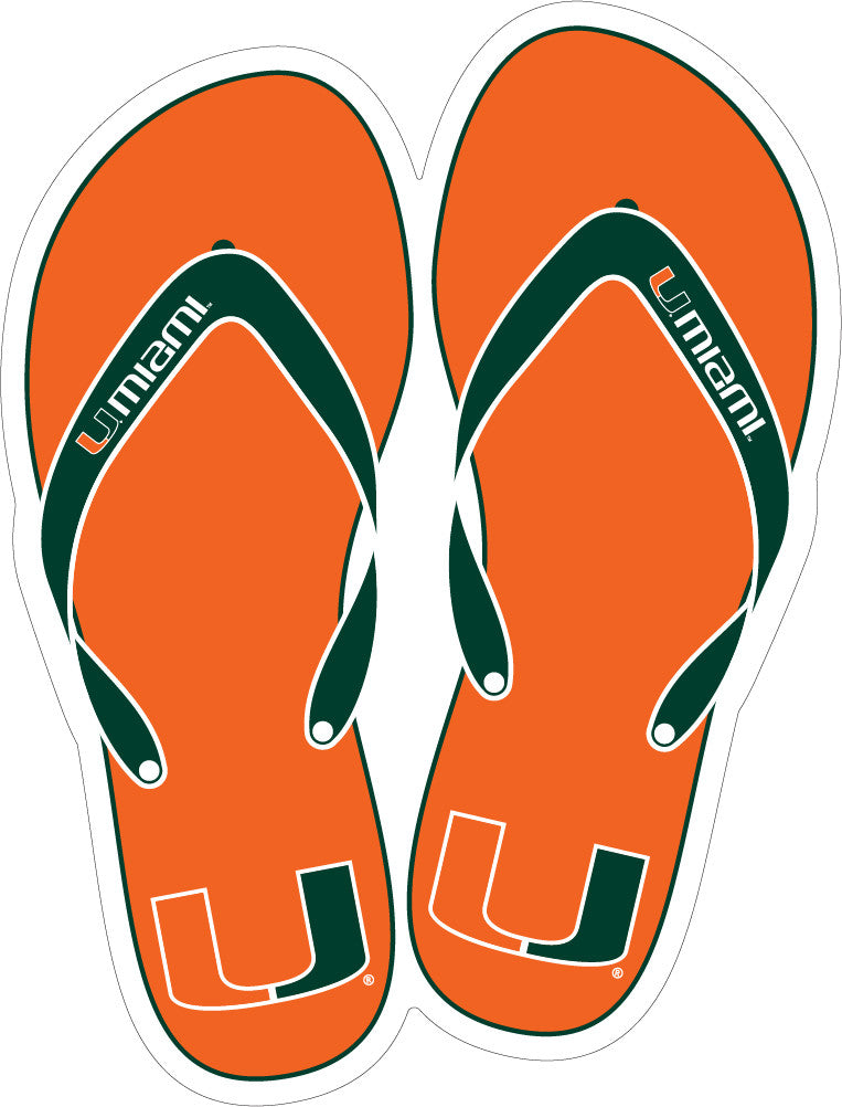"Miami Hurricanes 2"" Flip Flop Dizzler Decal - CanesWear at Miami FanWear Decals & Stickers SDS Design Associates CanesWear at Miami FanWear"