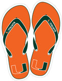 Miami Hurricanes Flipflop Magnet - CanesWear at Miami FanWear Decals & Stickers SDS Design Associates CanesWear at Miami FanWear