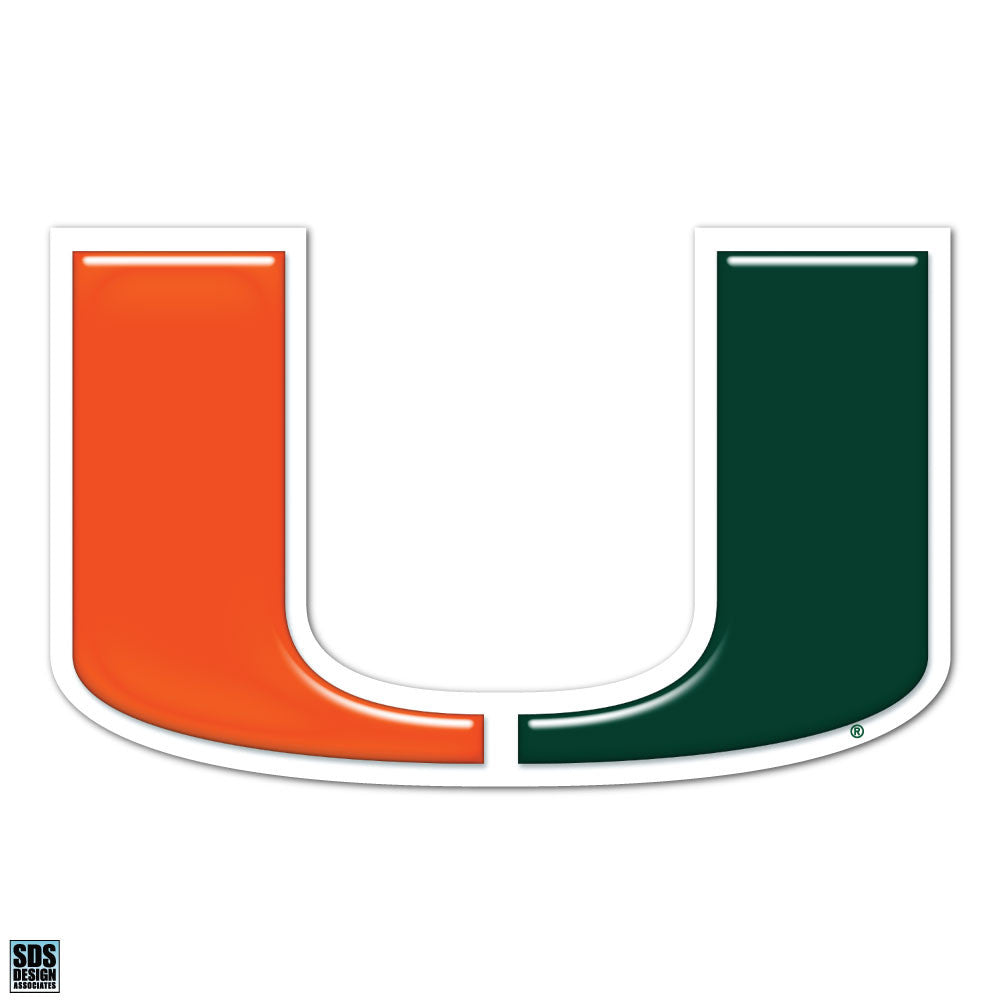 "Miami Hurricanes 2"" Miami U Dizzler Decal - CanesWear at Miami FanWear Decals & Stickers SDS Design Associates CanesWear at Miami FanWear"