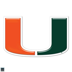 Miami Hurricanes U Logo Decal - CanesWear at Miami FanWear Decals & Stickers SDS Design Associates CanesWear at Miami FanWear