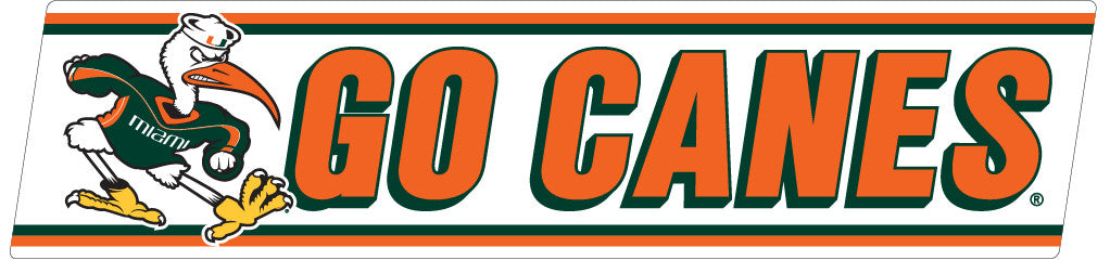 "Miami Hurricanes 10"" Go Canes Decal - CanesWear at Miami FanWear Decals & Stickers SDS Design Associates CanesWear at Miami FanWear"