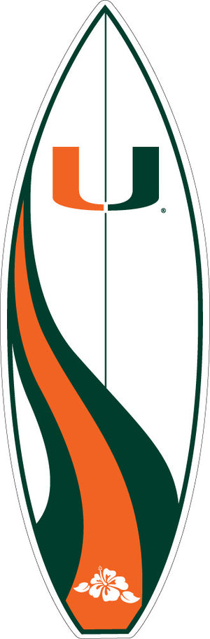 Miami Hurricanes Surfboard Decal - CanesWear at Miami FanWear Decals & Stickers SDS Design Associates CanesWear at Miami FanWear