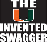 Miami Hurricanes The U Invented Swagger Decal - CanesWear at Miami FanWear Decals & Stickers SDS Design Associates CanesWear at Miami FanWear