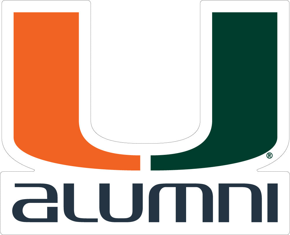 "Miami Hurricanes 3"" Alumni Decal - CanesWear at Miami FanWear Decals & Stickers SDS Design Associates CanesWear at Miami FanWear"