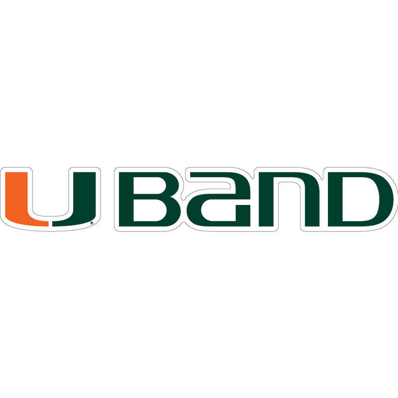 Miami Hurricanes U Band Block Decal - CanesWear at Miami FanWear Decals & Stickers SDS Design Associates CanesWear at Miami FanWear