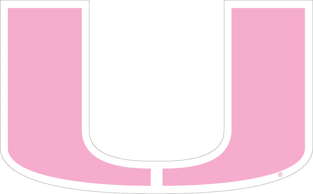 "Miami Hurricanes 2"" Pink U Logo Dizzler Decal - CanesWear at Miami FanWear Decals & Stickers SDS Design Associates CanesWear at Miami FanWear"