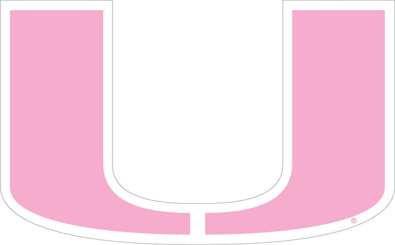 Miami Hurricanes Pink U Logo Magnet - CanesWear at Miami FanWear Decals & Stickers SDS Design Associates CanesWear at Miami FanWear