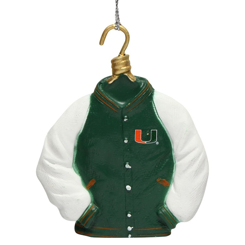 Miami Hurricanes Varsity Jacket Ornament