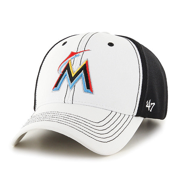 2f7545e2f48 Miami Marlins Cooler 47 MVP Adjustable Hat - White – CanesWear at ...