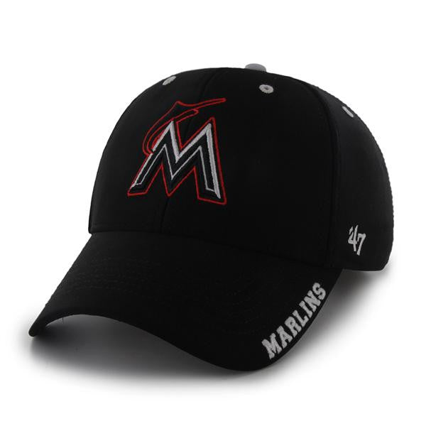 564560f4a1a59 Miami Marlins Condenser 47 MVP Adjustable Hat - Black