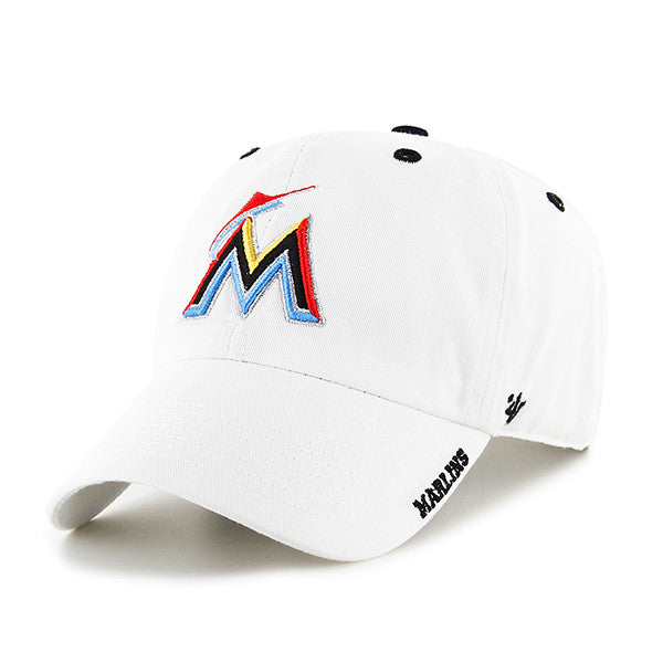 72a9ff7609905 Miami Marlins Ice Clean Up Adjustable Hat - White – CanesWear at ...