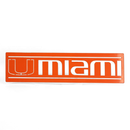 "Miami Hurricanes Miami 16"" x 4"" Metal Wall Sign - Orange"