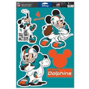 "Miami Dolphins 11"" x 17"" Multi-Use Mickey Decals"