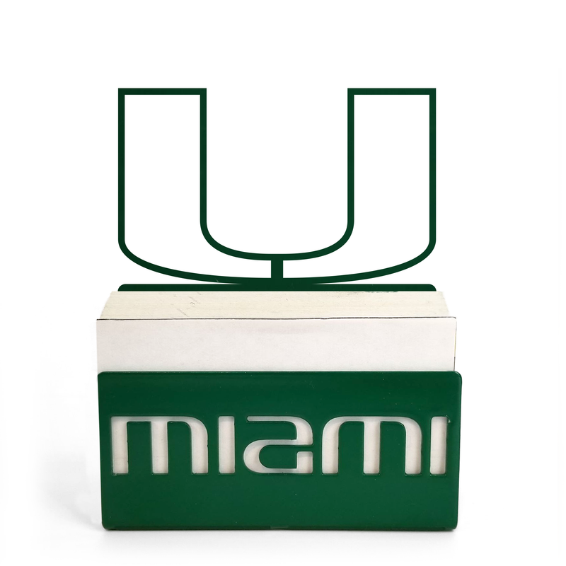 Miami Hurricanes U Business Card Holder - Green