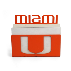 Miami Hurricanes Business Card Holder Orange