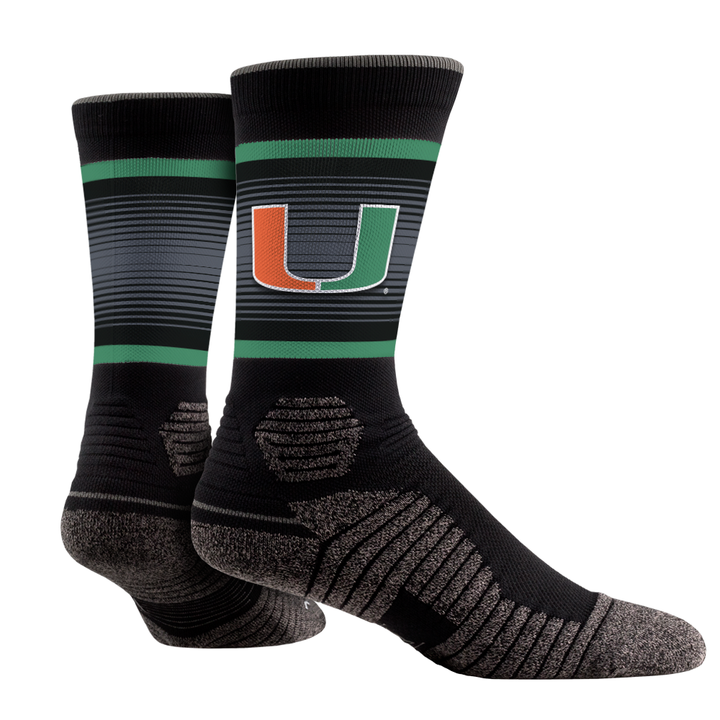 Miami Hurricanes Rock'em Hex Performance Socks