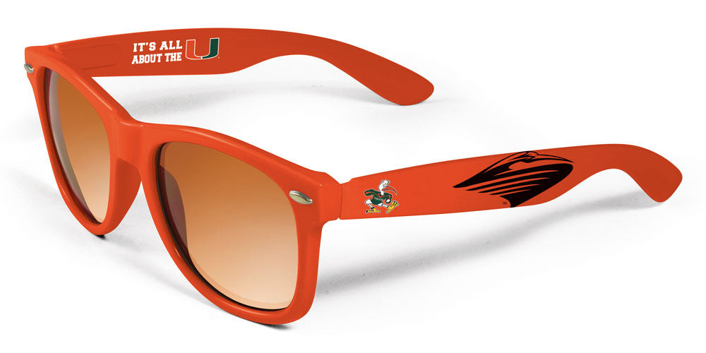 Miami Hurricanes Maxx HD Rally Sunglasses - Orange