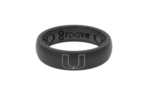 Miami Hurricanes Groove Silicone Rings - Thin