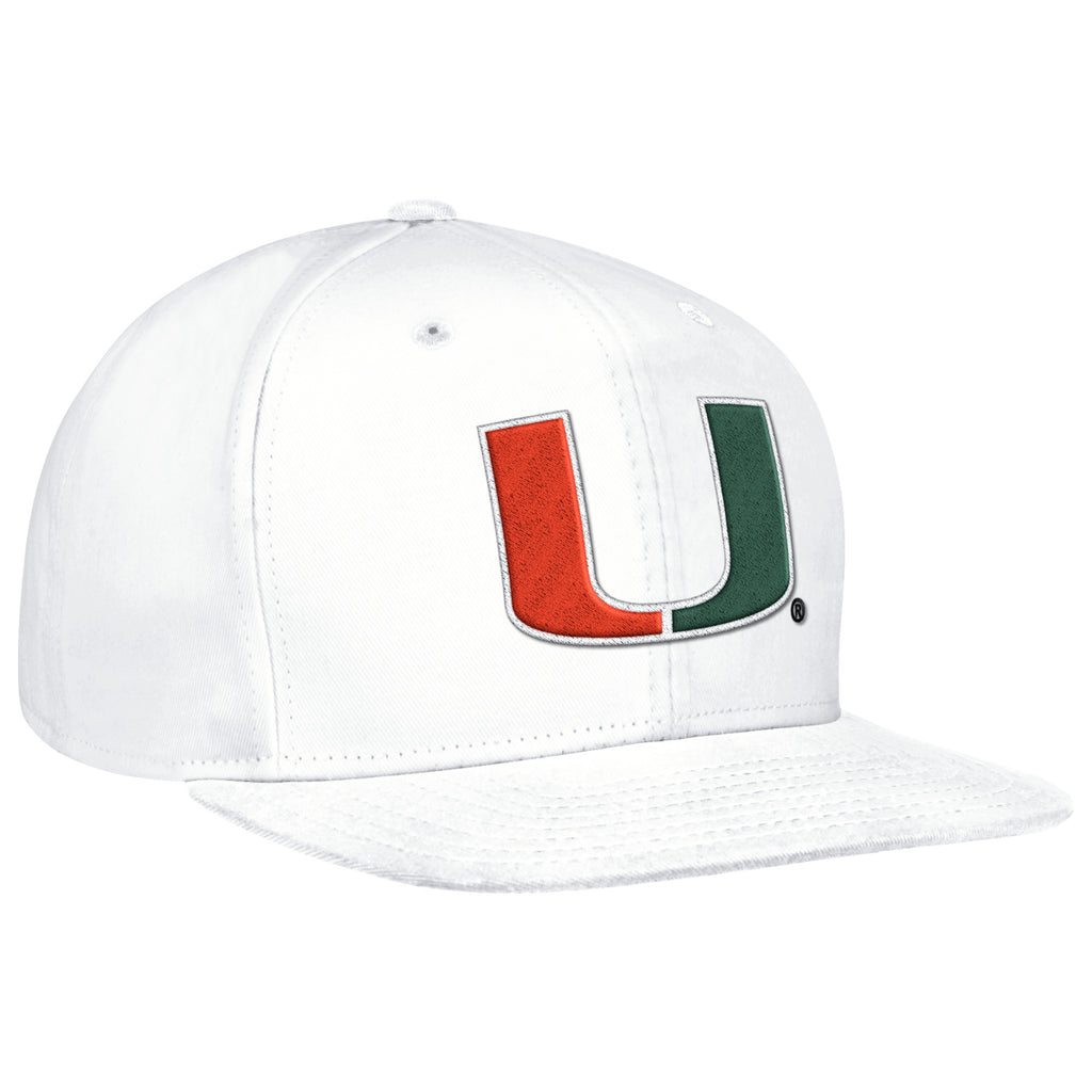 Miami Hurricanes adidas 2017 Snapback Hat - White – CanesWear at ... 6a622cfe15d