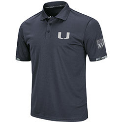 Miami Hurricanes Colosseum OHT Digi Camo Polo - Charcoal