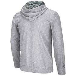 Miami Hurricanes Colosseum OHT Full Zip Digi Camo Hoodie -Heather Grey