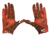 Miami Hurricanes Youth Adizero by Adidas Football Gloves - Orange - CanesWear at Miami FanWear Accessories Adidas CanesWear at Miami FanWear