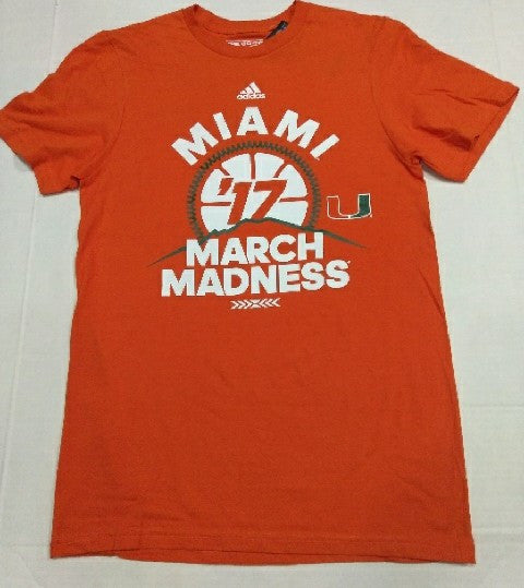 Miami Hurricanes adidas 2017 March Madness T-Shirt - Orange