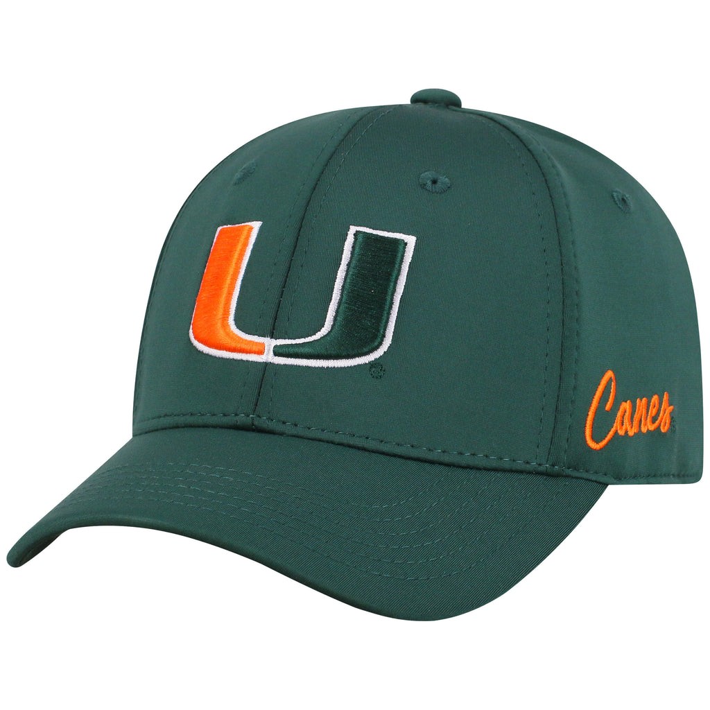 Miami Hurricanes Top of the World Phenom 10 One Fit - Green