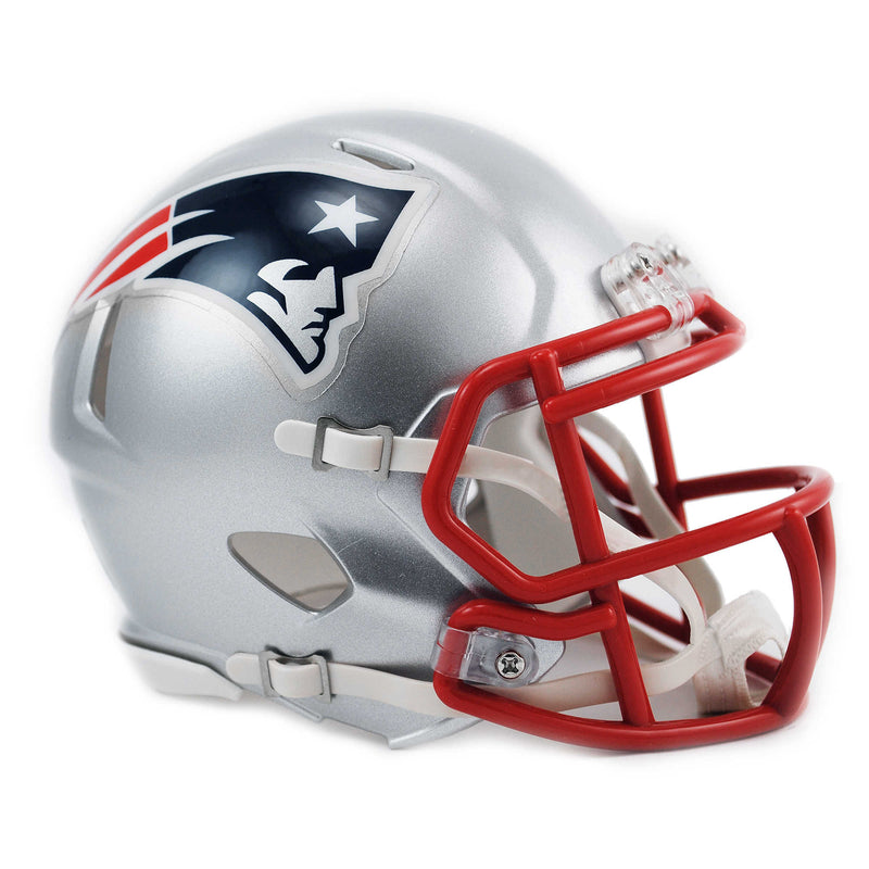 New England Patriots Riddell Speed Mini Helmet - Grey
