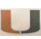 Miami Hurricanes Window film 6 inch - CanesWear at Miami FanWear Decals & Stickers Jay Mac Sports CanesWear at Miami FanWear