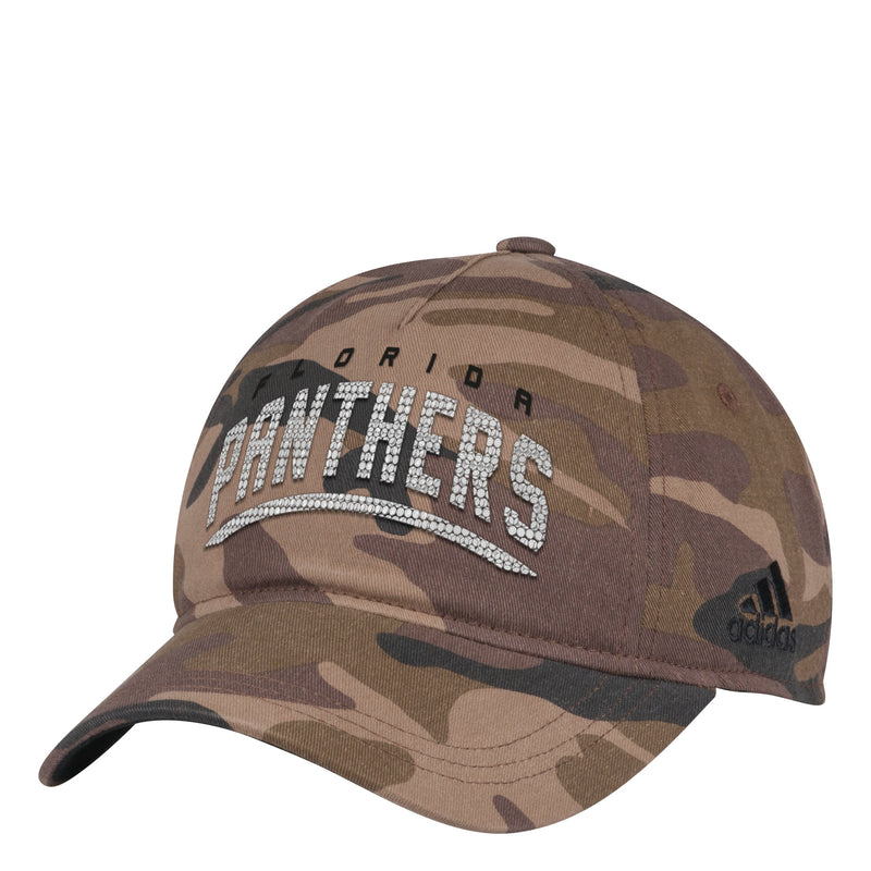 Florida Panthers Women's adidas Adjustable Camo Rhinestone Hat