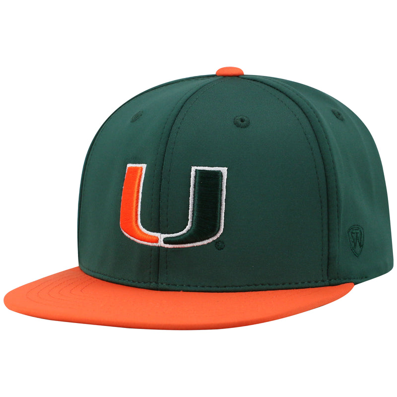 Miami Hurricanes Top of the World Ridge Adjustable Two-Tone