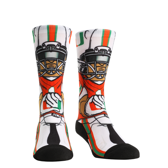 Miami Hurricanes Rock'em Playmaker HyperOptic Socks