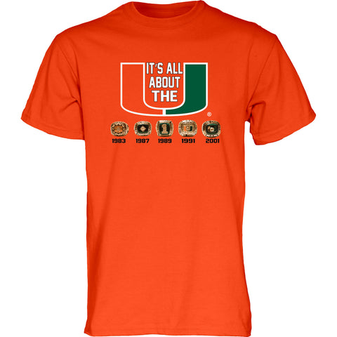 Um men tagged t shirt caneswear at miami fanwear for Miami invented swagger t shirt