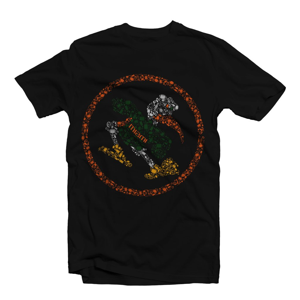 Miami Hurricanes Duh Nation Rings and Things T-Shirt - Black