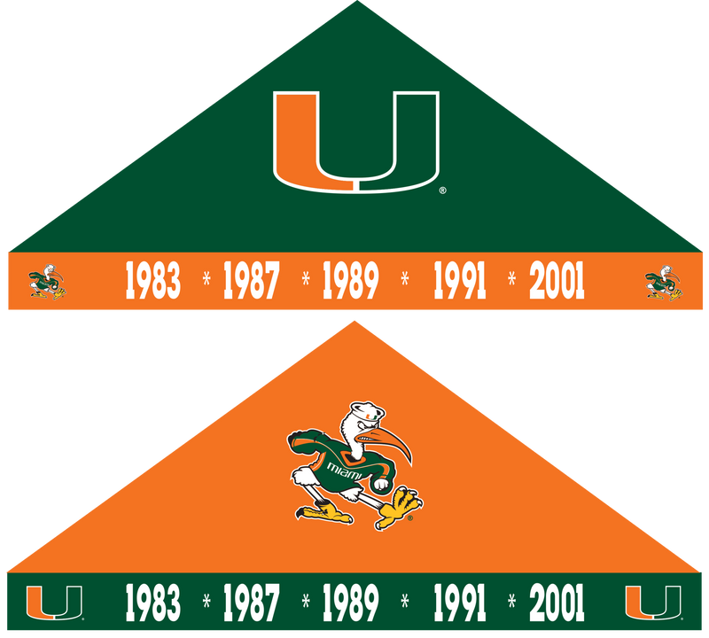 Miami Hurricanes Championship Years 9'x9' Tent - CanesWear at Miami FanWear MFW Exclusive Rivalry Tents CanesWear at Miami FanWear