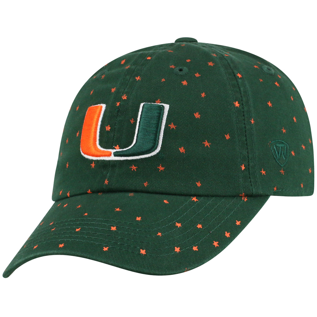 Miami Hurricanes Top of the World Starlite Adjustable Womens - Green