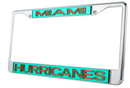 Miami Hurricanes Glitter License Plate Tag Frame - CanesWear at Miami FanWear Automobile Accessories Stockdale CanesWear at Miami FanWear
