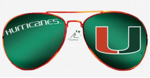 Miami Hurricanes Flippy Magz Sunglasses Reversible Magnet