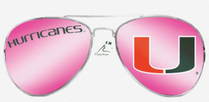 Miami Hurricanes Flippy Magz Sunglasses Reversible Magnet - CanesWear at Miami FanWear Decals & Stickers Flippy Magz CanesWear at Miami FanWear