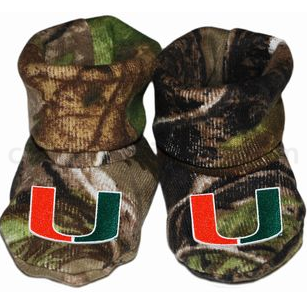 Miami Hurricanes Infant Camo Booties