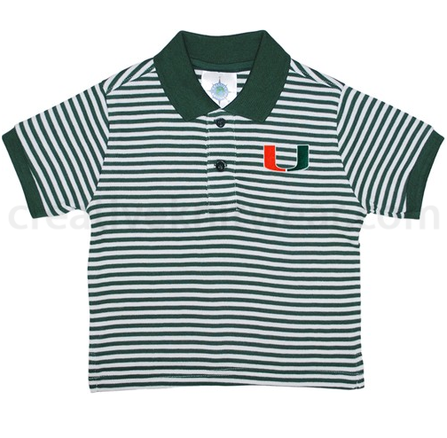 Miami Hurricanes Toddler Striped Polo - Green