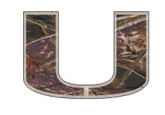 "Miami Hurricanes Camo U Decal - 12"" - CanesWear at Miami FanWear Decals & Stickers Craftique CanesWear at Miami FanWear"